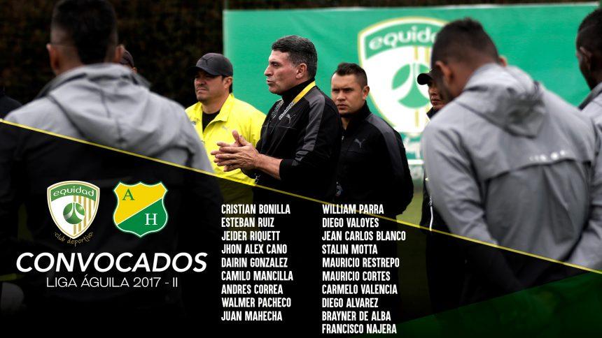 Convocados vs. Atlético Huila