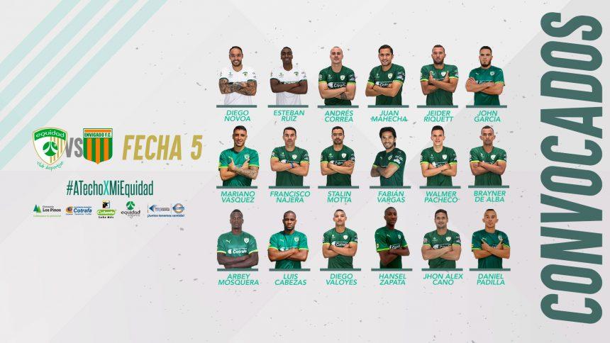 Convocados vs. Envigado, por la Liga Águila 2018-I
