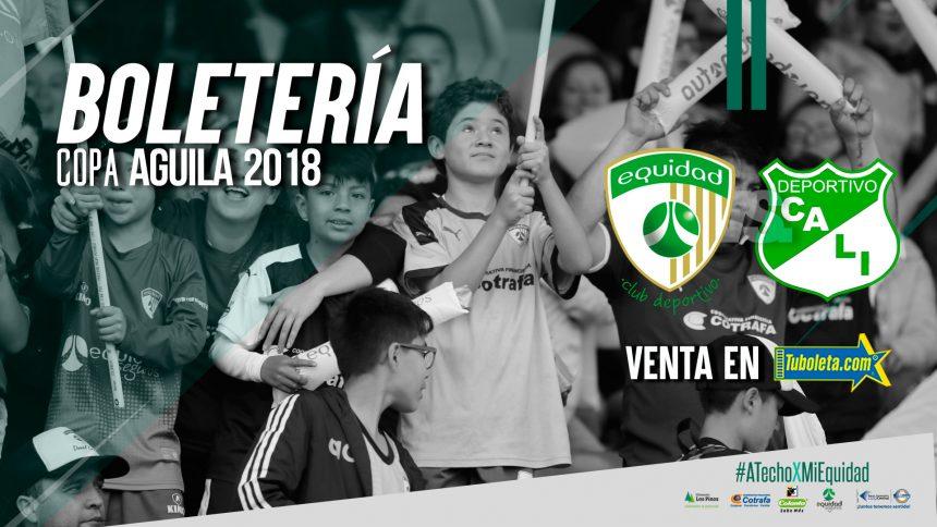 Boletería vs. Deportivo Cali por Copa Águila