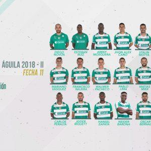 Convocados vs. Atlético Junior por Liga Águila