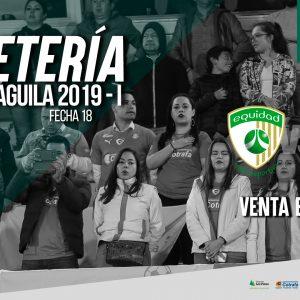 Boletería vs. Envigado, Liga 2019-I